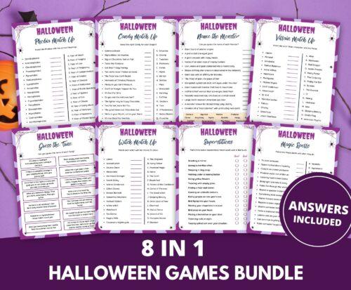 Halloween Games Printable Bundle