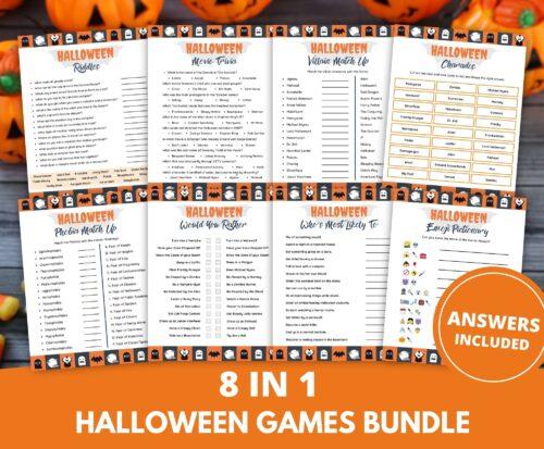 Halloween Party Games Printable Bundle