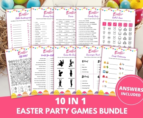 Easter Party Games Printable Bundle