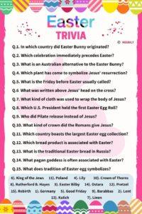 Easter Trivia Worksheet