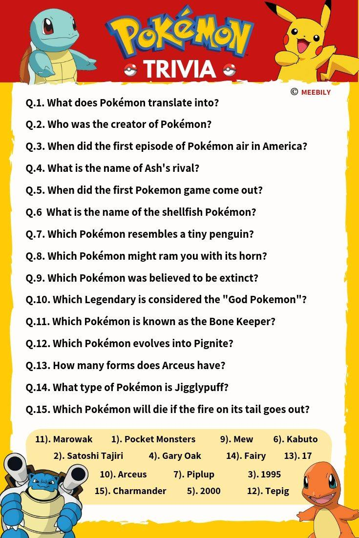 photograph about Star Wars Trivia Questions and Answers Printable identified as Pokemon Trivia Concerns Methods - Meebily
